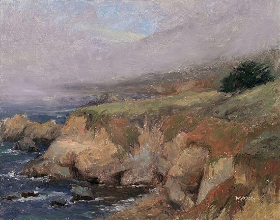 A Break in the Fog by Debra Joy Groesser Oil ~ 11 x 14