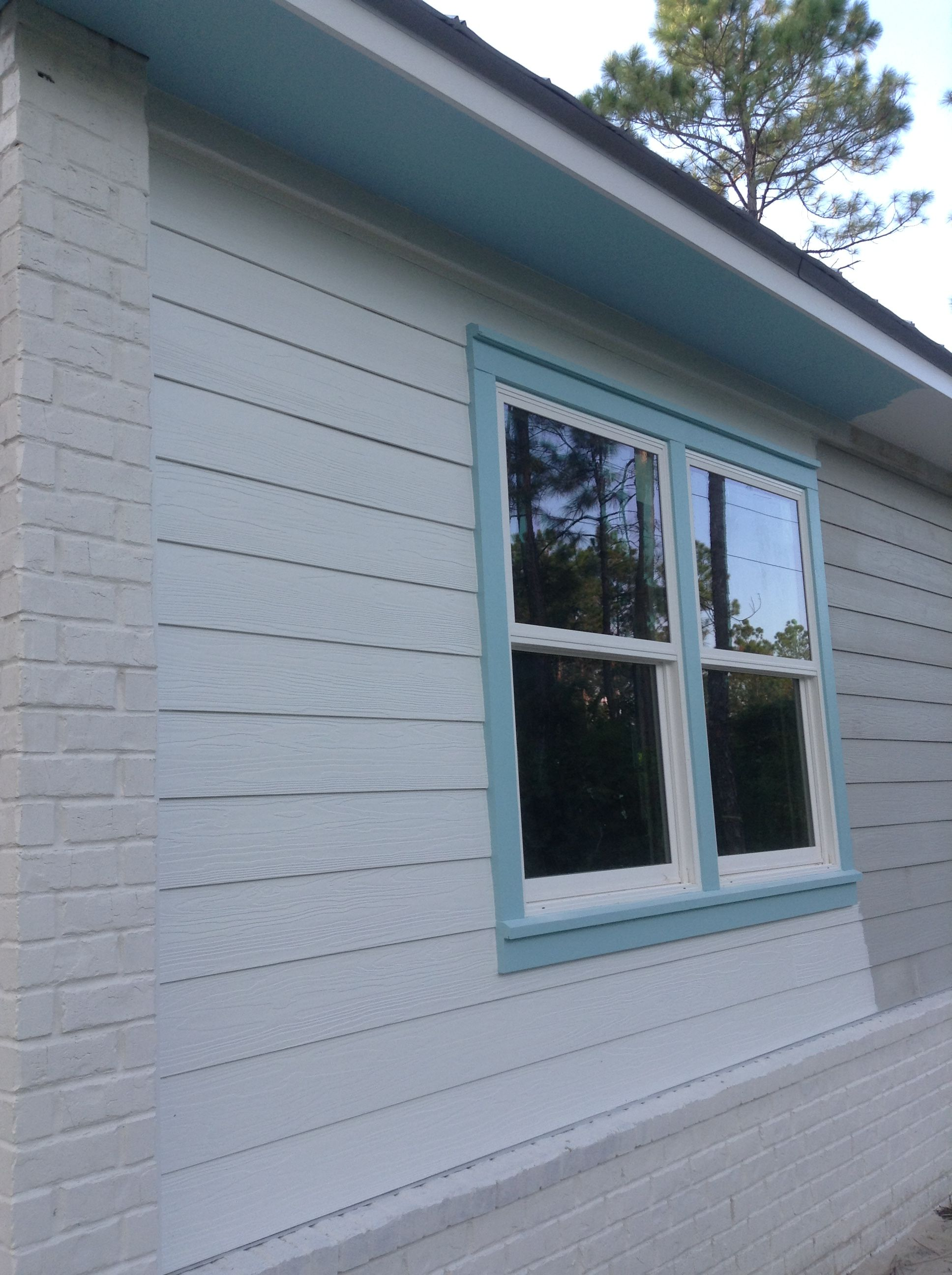 Exterior Is White Galvanized Metal Roof Sw Cay Blue On Window Trim And Soffits And Possibly The Screen Galvanized Metal Roof Screened Porch Doors Window Trim
