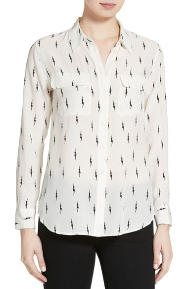 Kate Moss for Equipment 'Slim Signature' Print Silk Shirt available at #Nordstrom