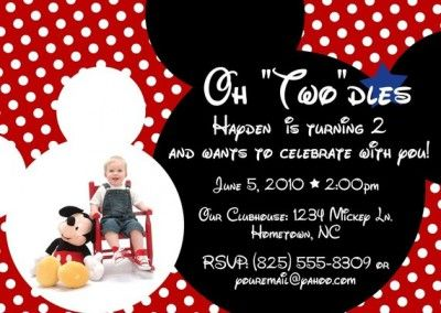 Mickey Mouse Party Invitation Wording