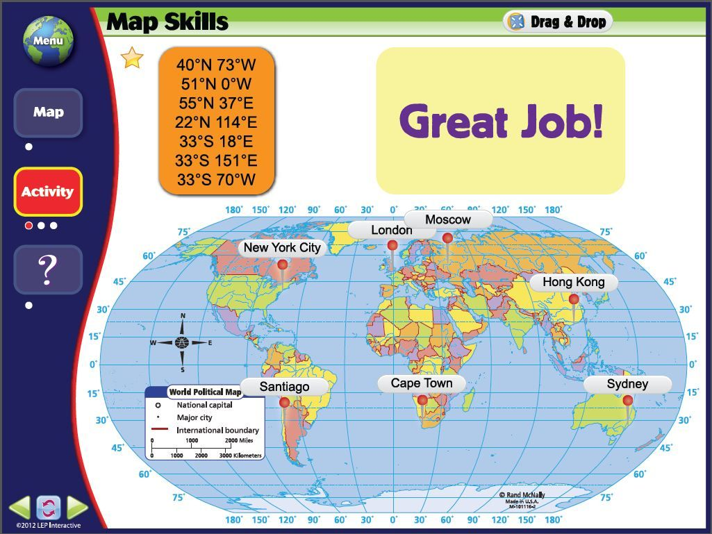 Learning coordinates with map skills the world iwb software learning coordinates with map skills the world iwb software featuring rand mcnally maps gumiabroncs Choice Image