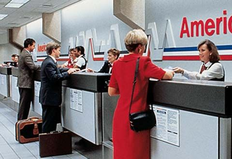 American Airlines Airport Counter Signage Airport Design