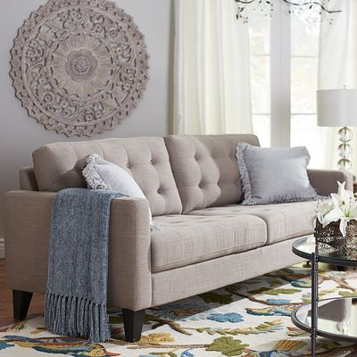 Superb Nyle Putty Tan Sofa Tans And Sofas. Pier 1 ...