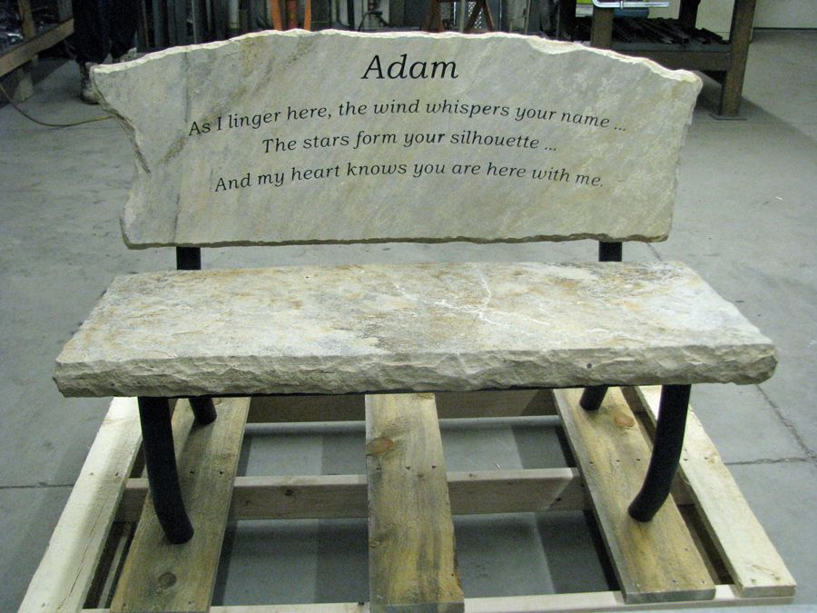 Engraved Memory Bench Custom made memory bench that will become – Memorial Garden Bench