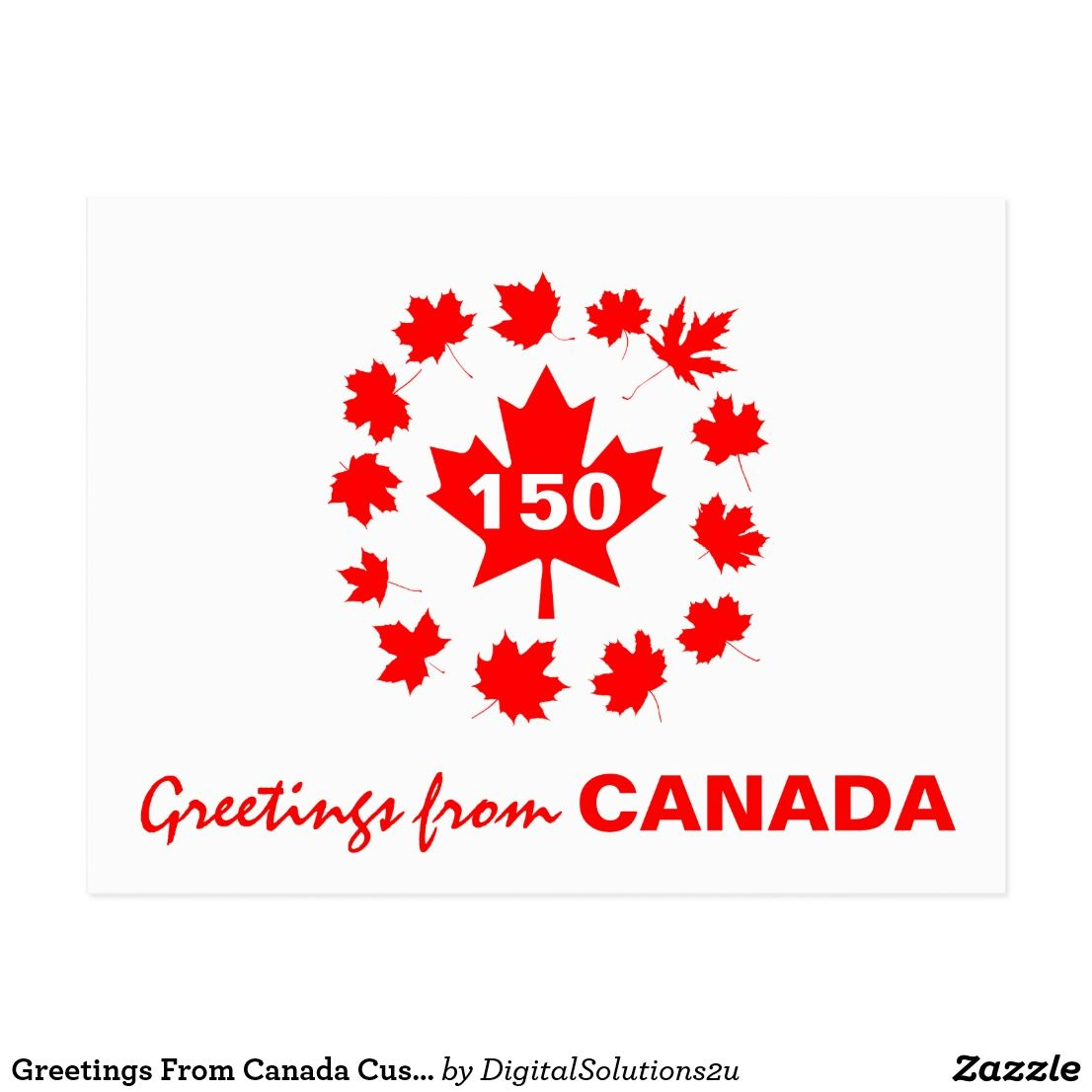 Greetings From Canada Customizable Postcard
