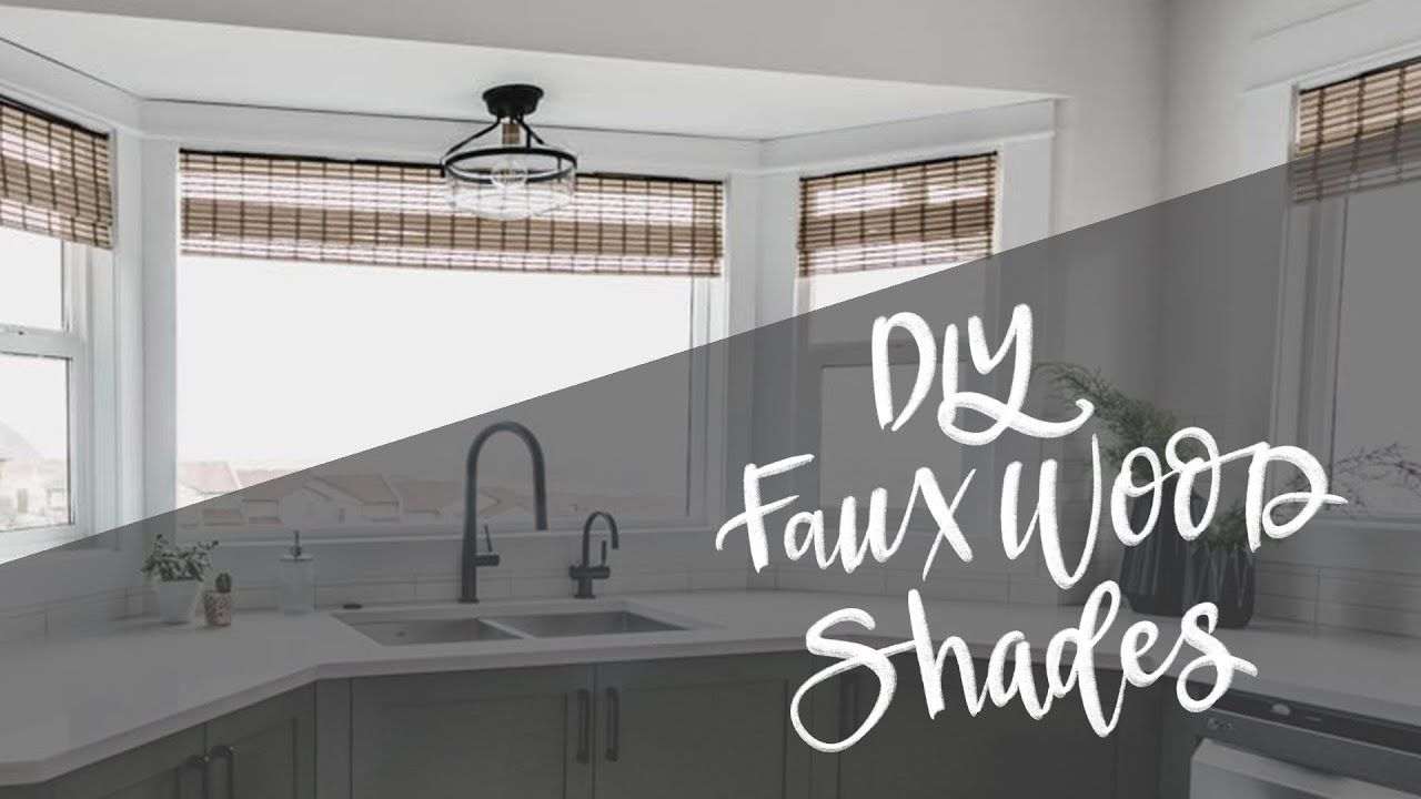 Diy woven wood window shades hack faux bamboo blinds