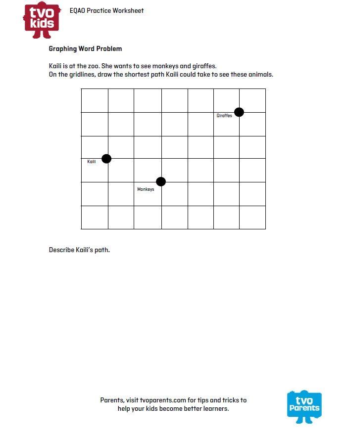 EQAO Homework worksheet for Grade 3 Math - Download & get the ...