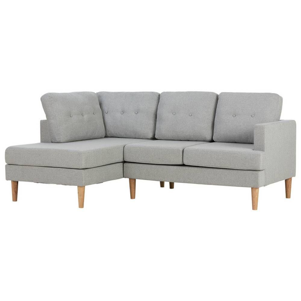 Buy Argos Home Joshua Left Corner Fabric Sofa Light Grey Sofas Argos In 2020 Light Gray Sofas Argos Home Fabric Sofa