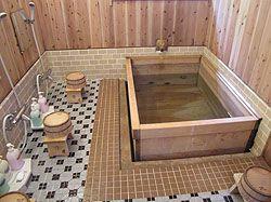 "Bathroom Japan shared bath at a ""ryokan"" (japanese inn) - japan roads tours"