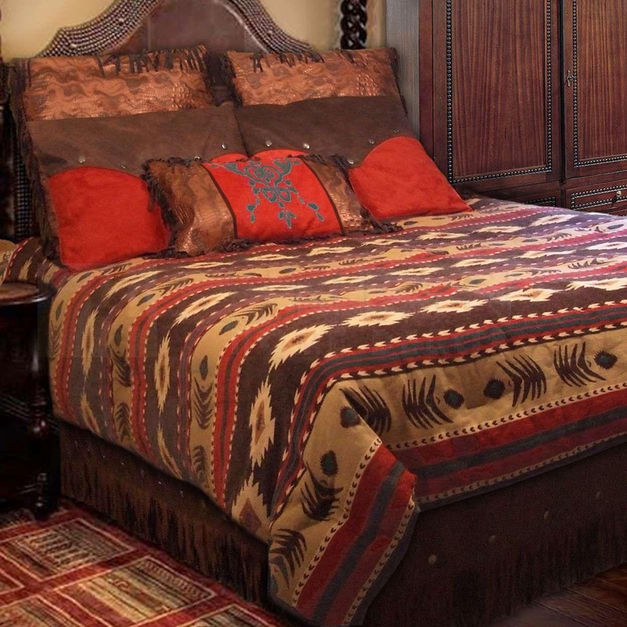 Cimarron Ranch King Bedding Ensemble Southwest Bedding Western Home Decor Western Bedding