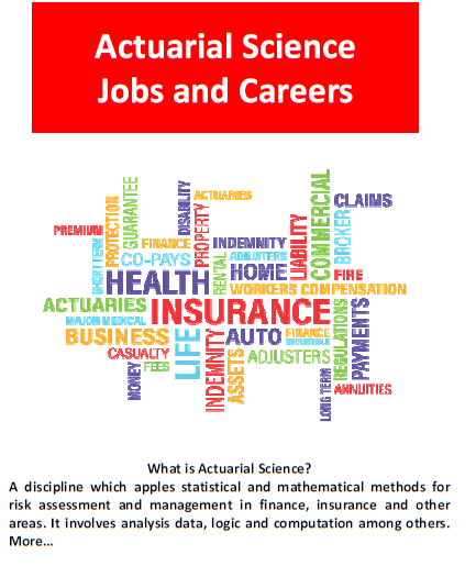 Actuarial Science Career Jobs Study Courses Actuarial Science