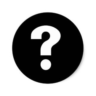 Mystery question mark riddle puzzle purple fabric Logos