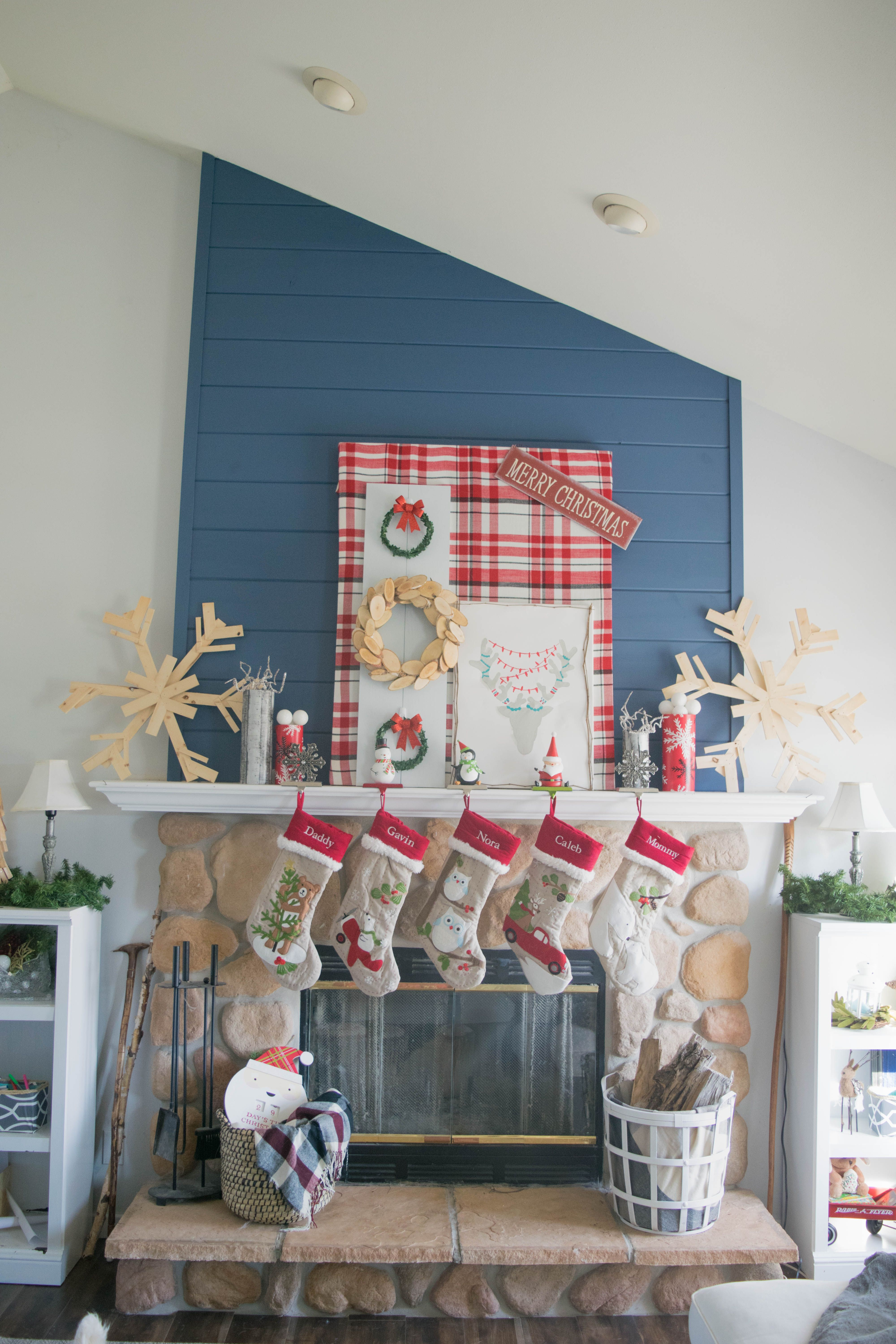 red and white Christmas decorations. Holiday home tour, filled with ...