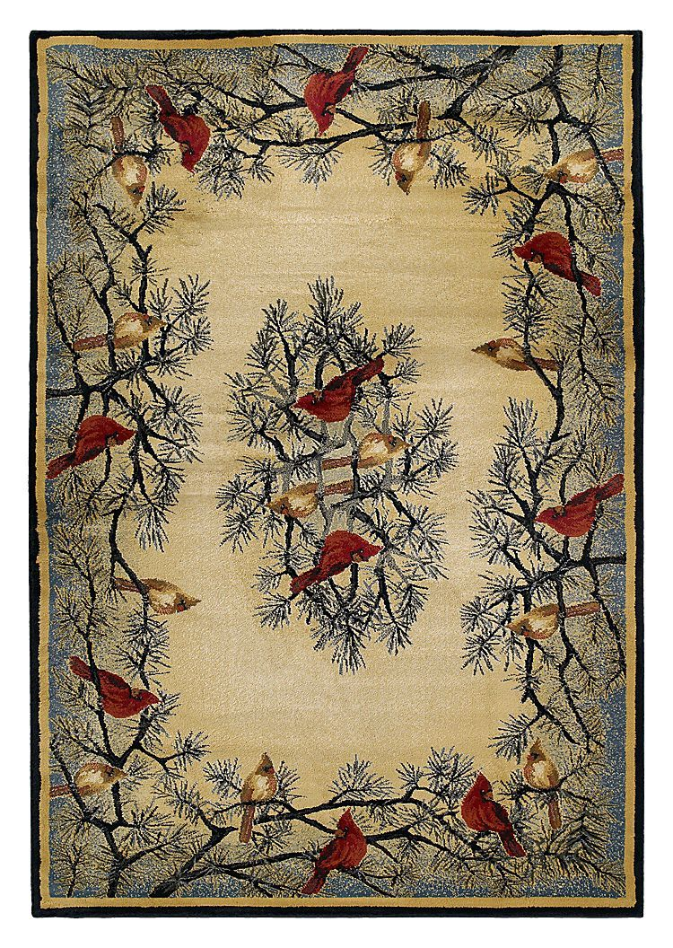 Lodge Themed Area Rugs Cardinal In Pine Bass Pro Shops Rugs