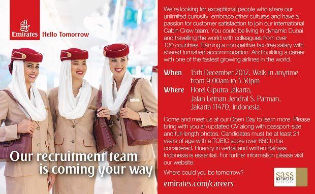 Emirates Open Day - Jakarta Recruitment | Recruitment