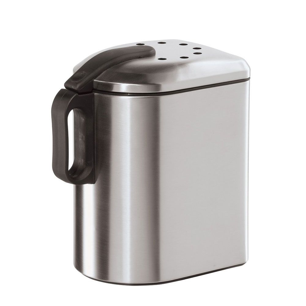 Stainless Steel Countertop Compost Pail With Charcoal Filter With Images Compost Pail Stainless Steel Countertops Compost
