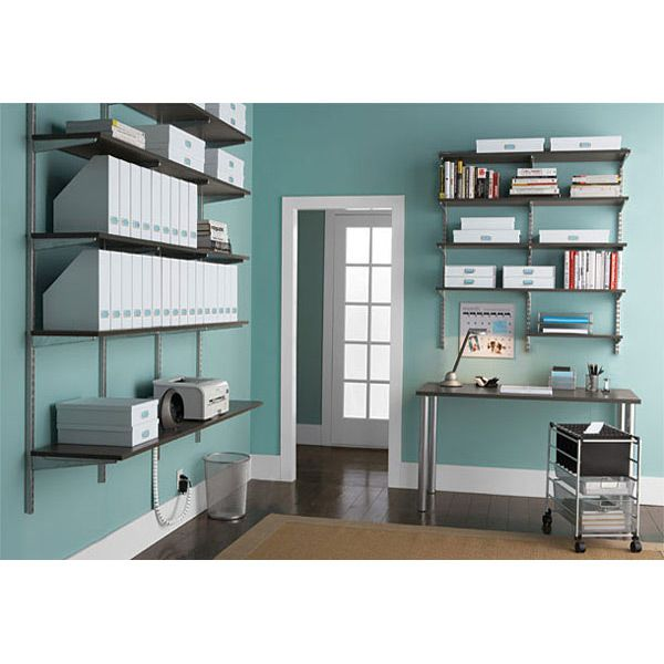 the container store u003e driftwood u0026 platinum elfa office solid shelving
