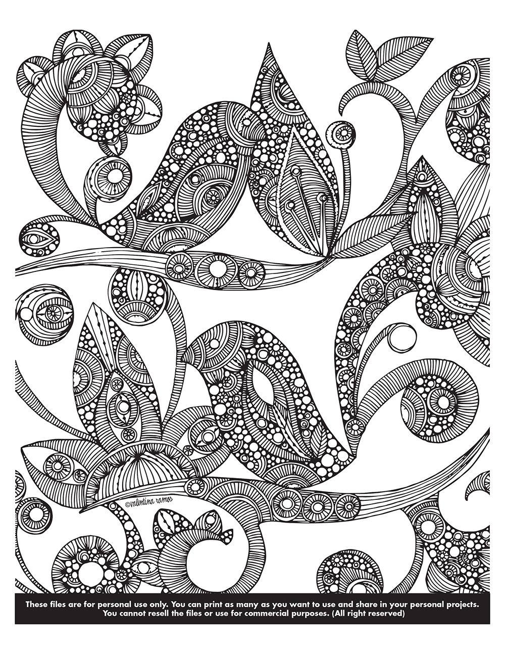 Happy Coloring Monday Click This Link To Download Your Page Valentinadesign Images Printables Birds 03 04 VHpdf Enjoy It
