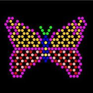 It is a picture of Playful Printable Lite Brite Templates