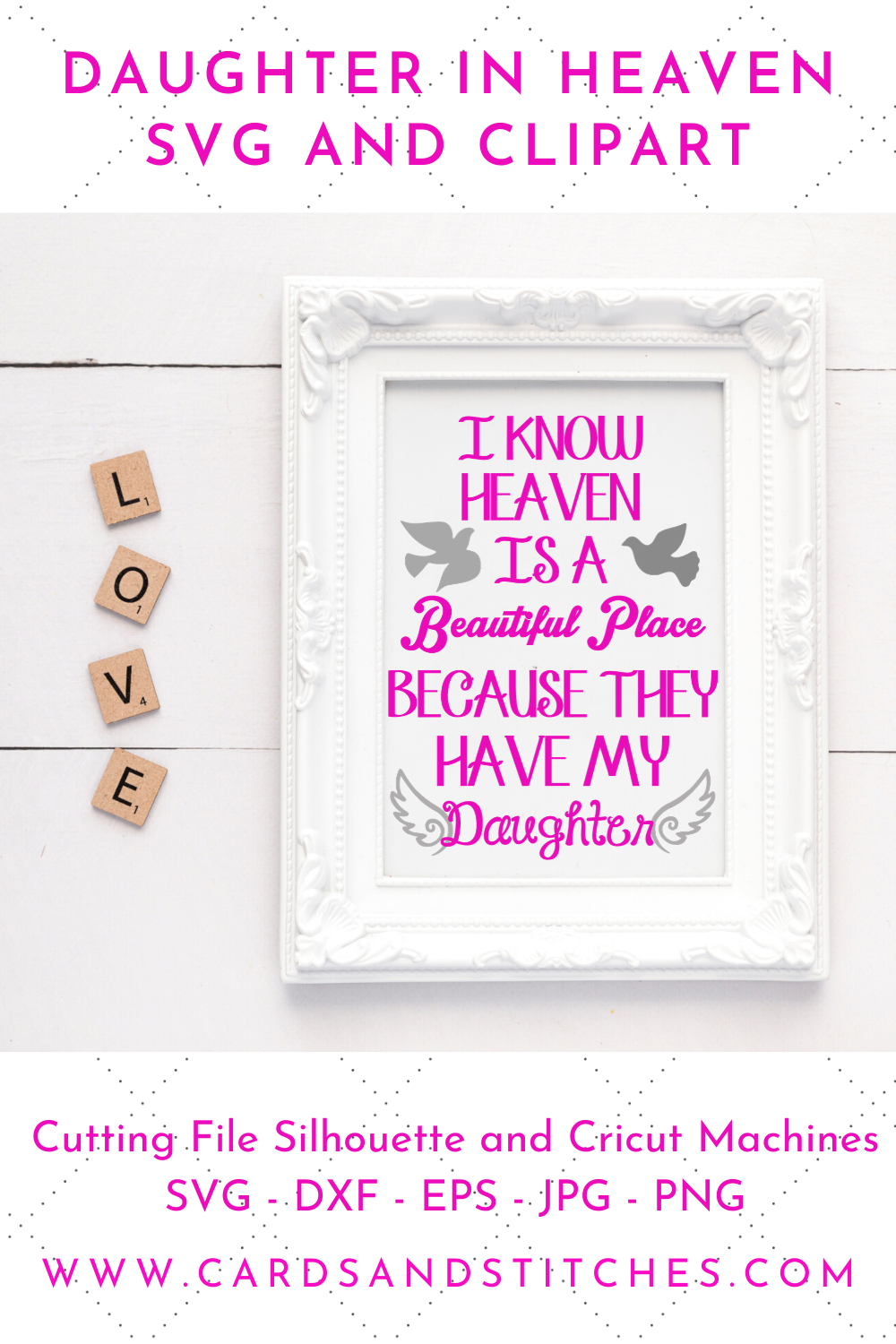 Download Daughter in Heaven SVG and Clipart, Great for Silhouette ...