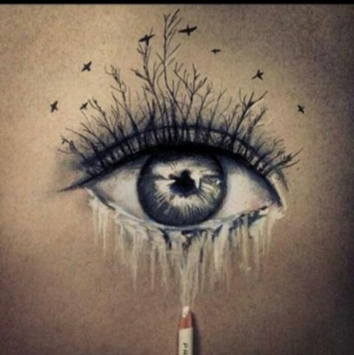 Pin by Mandi Szikula on Art Eye art, Eye tattoo, Tree