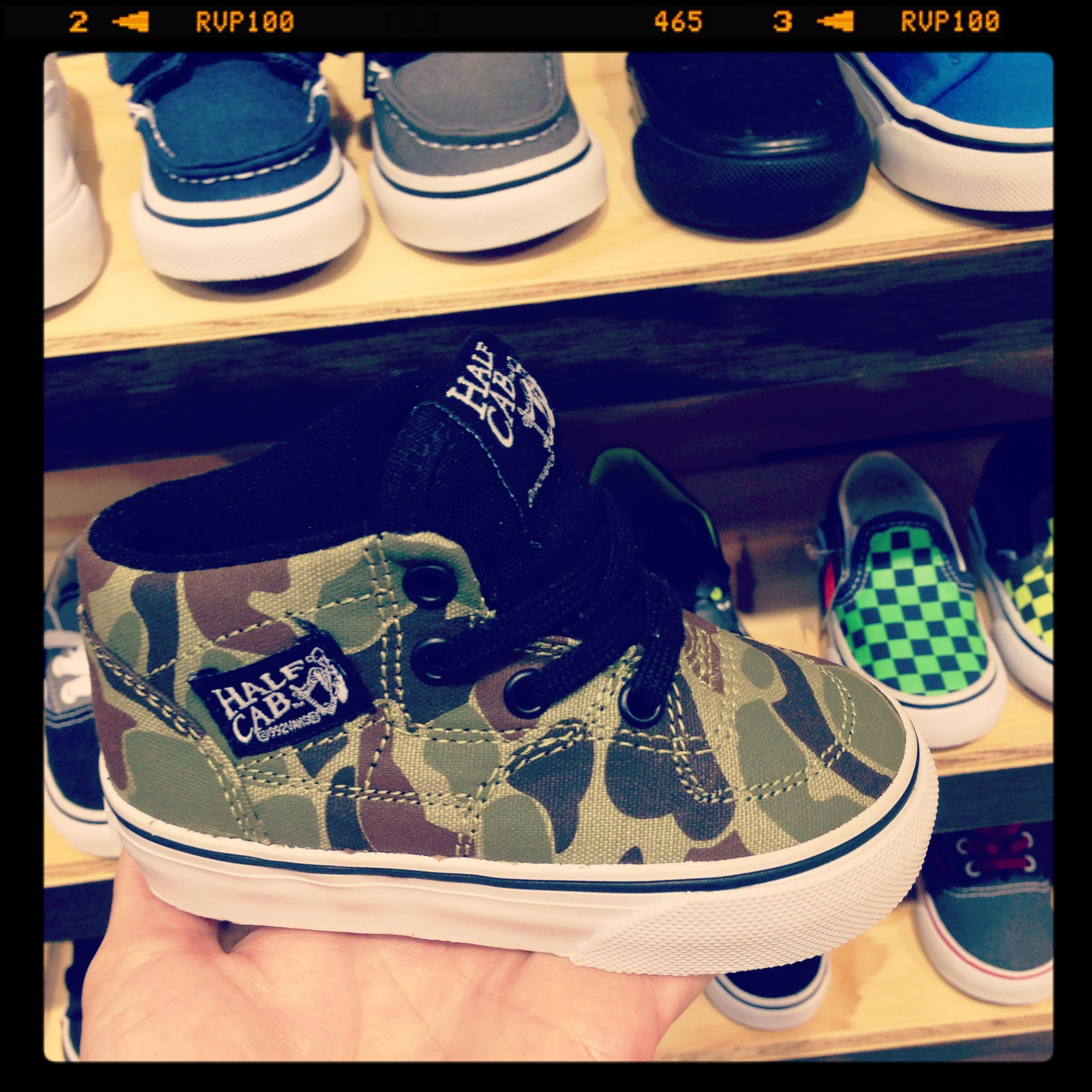 vans half cab camo toddler shoes