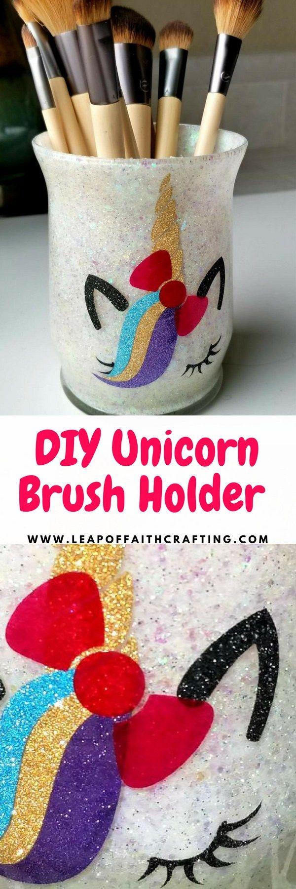 Cute Makeup Brush Holders DIY with Glitter! Diy makeup