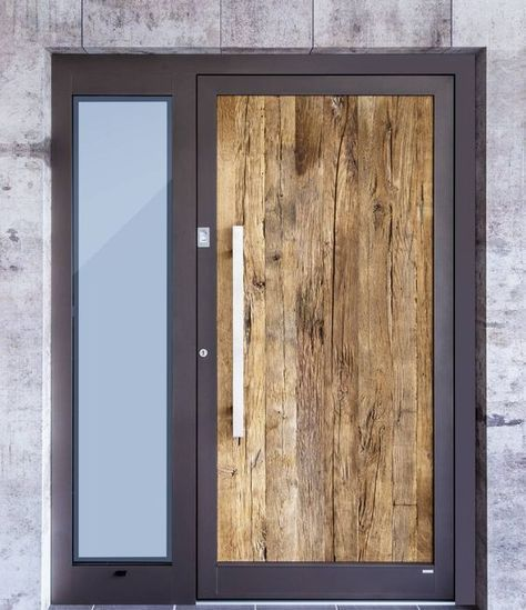 Front doors with old wood