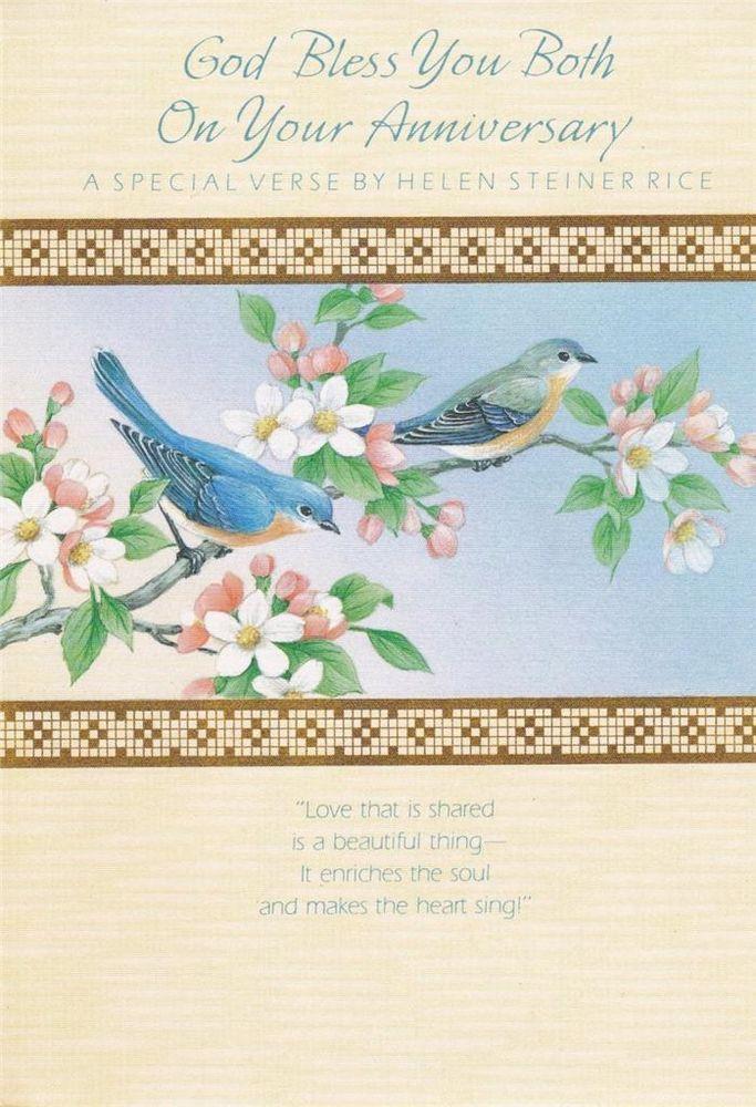 Vintage Christian Greeting Card, Anniversary, Helen