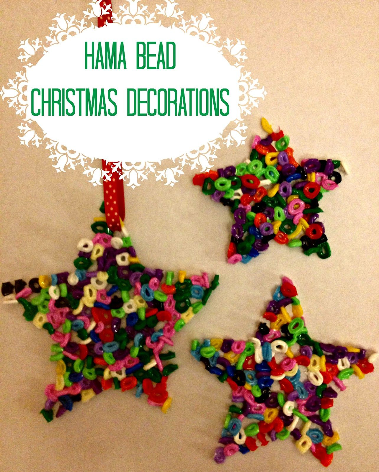 Decorate Christmas Tree With Beads: Hama Beads Christmas Tree Decorations