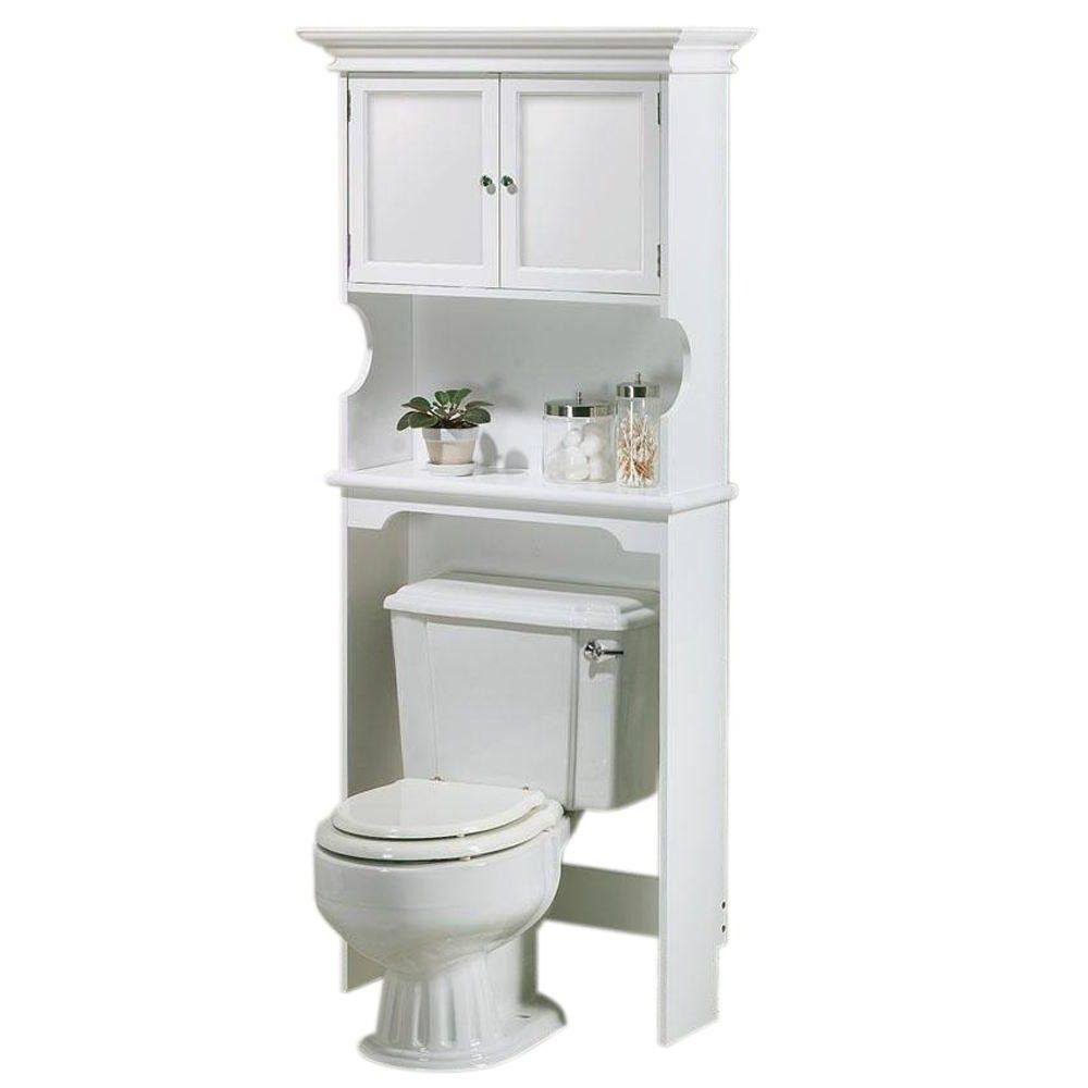 Over The Toilet Storage Bathroom Cabinets Home Depot From E Saver For