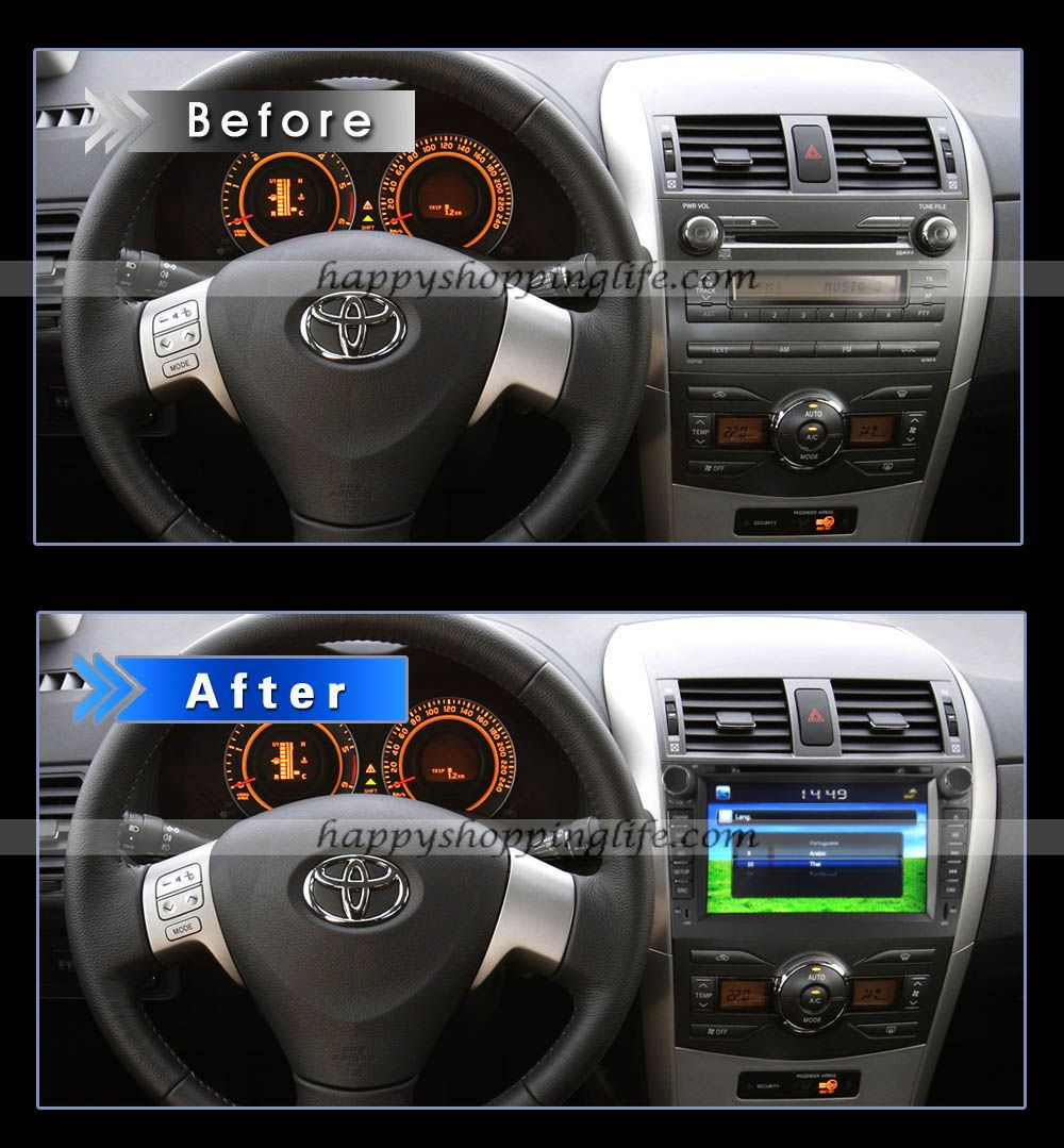 Install oem dvd player toyota corolla gps touch screen bluetooth http www