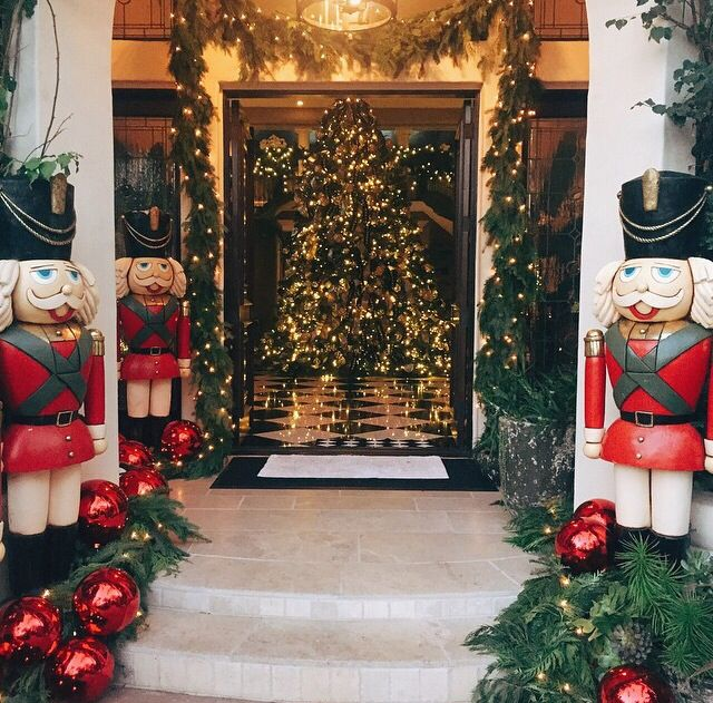 Christmas House Design kendall jenner shares snap of her mom's decked out mansion | house