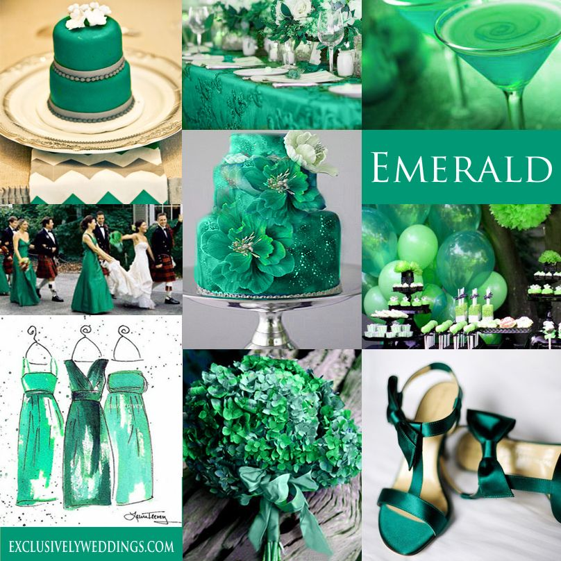 Your wedding color green emerald green weddings green wedding emerald green wedding color emerald is the pantone color of the year for 2013 exclusively junglespirit Gallery