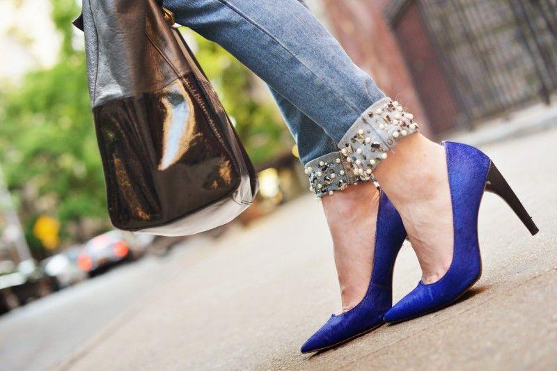 Embellished jeans - H jeans, Michael Kors heels