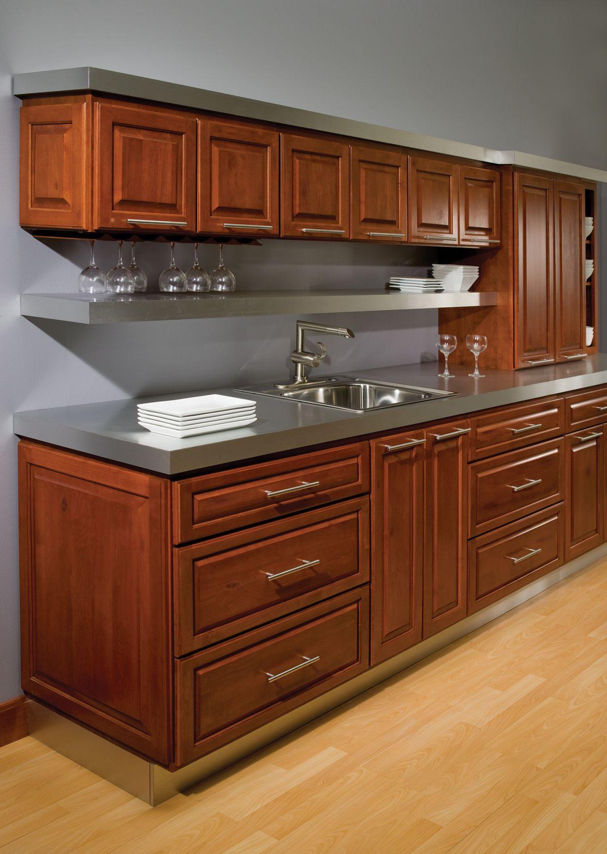 Stanford Square Alder Chestnut Stock Kitchen Cabinets Kitchen Cabinets Kitchen Design