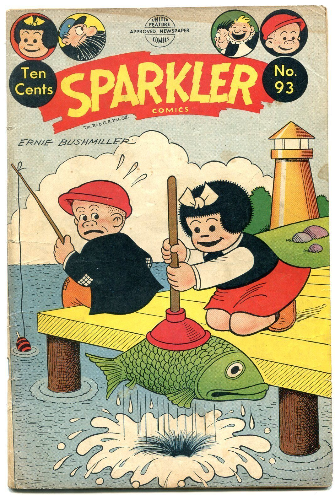 Nancy And Sluggo Comic Porn - Sparkler Comics #93 1950- Nancy & Sluggo- Plunger cover- Golden Age VG