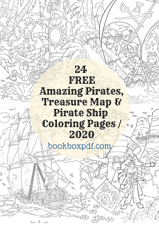 24 Amazing Pirates Treasure Map Pirate Ship Coloring Pages Free Treasure Maps Coloring Pages Pirate Treasure Maps [ 1500 x 1000 Pixel ]