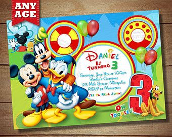 Mickey Mouse Invitation Mickey Mouse Second Birthday Oh Twodles