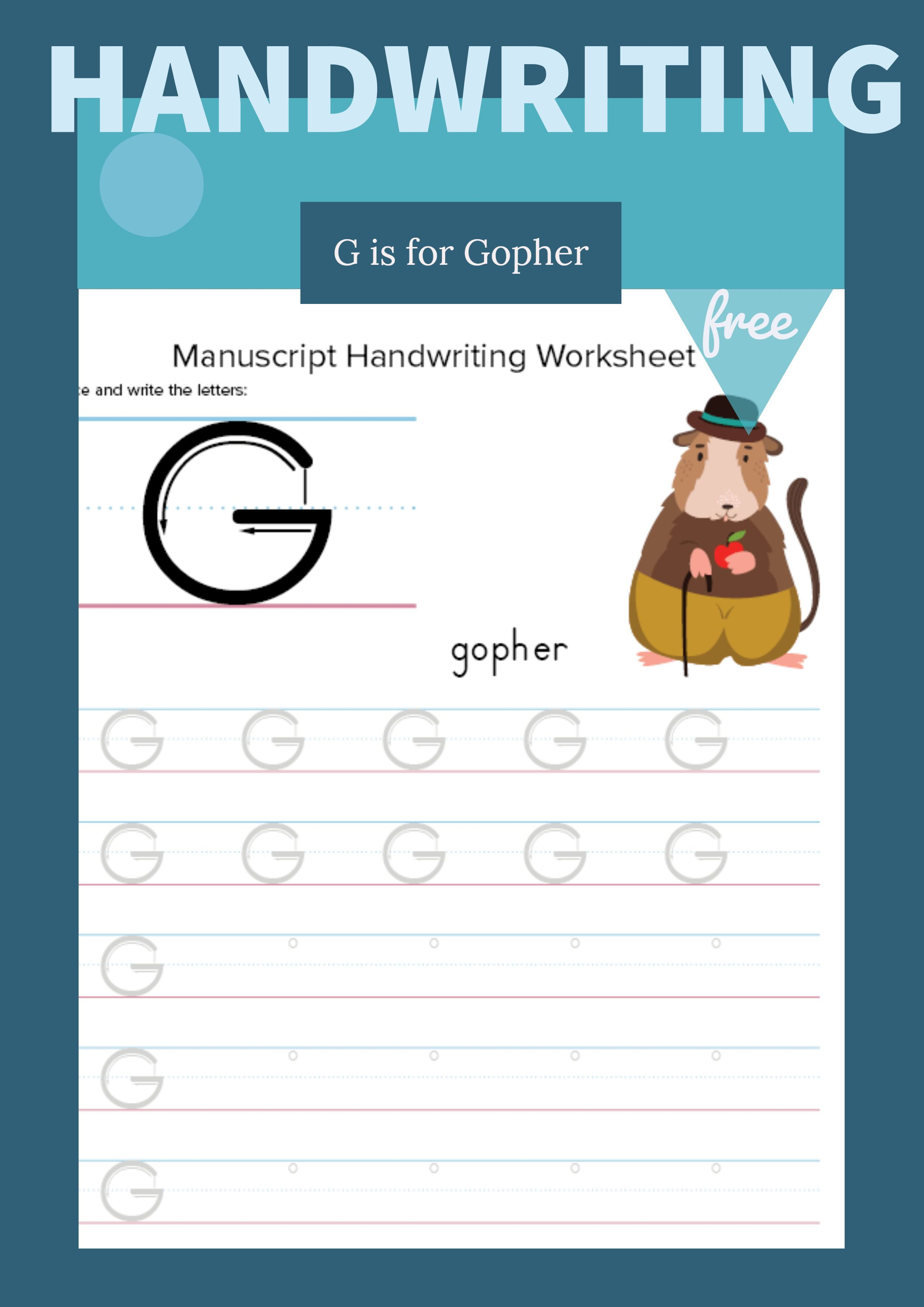 Writing And Tracing Letter G