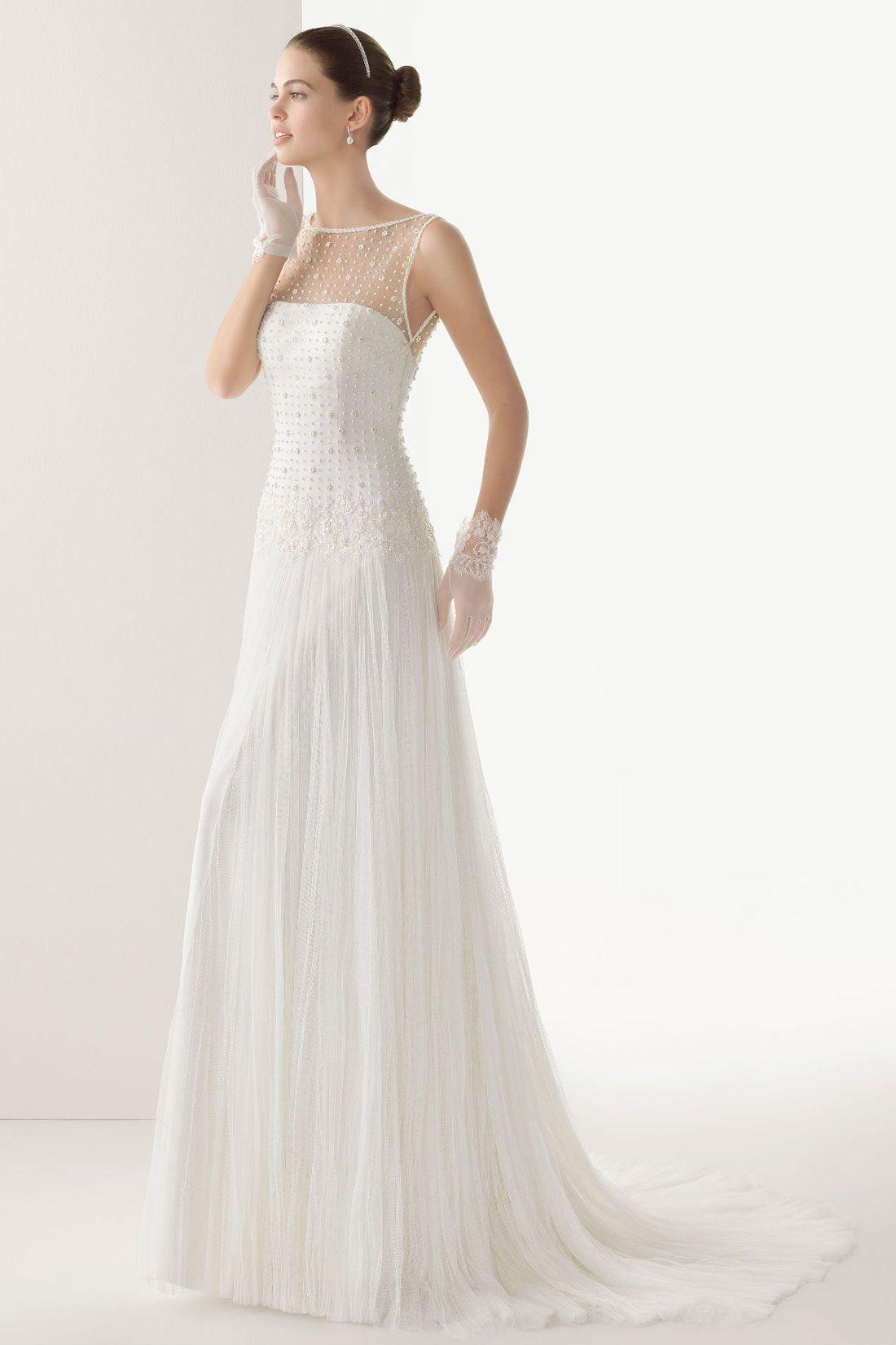 Chic robe de marie en tulle dos transparent robe de marie tulle sheer appliques button back sweep train wedding dress uk ombrellifo Gallery