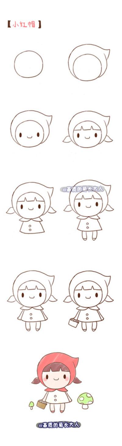 简笔绘画教程 来自南宫卍宸的图片分享 堆糖 Doodle Drawings Cute Easy Drawings Cute Drawings