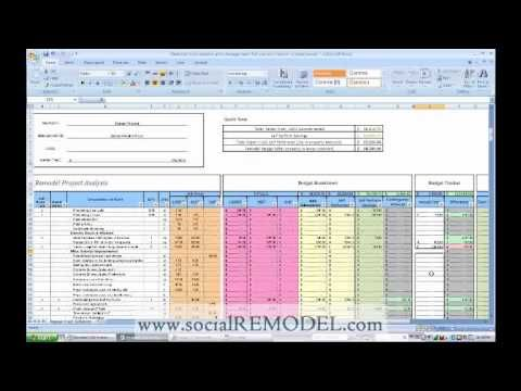 Construction Cost Analysis and Project Management Calculator Sheet
