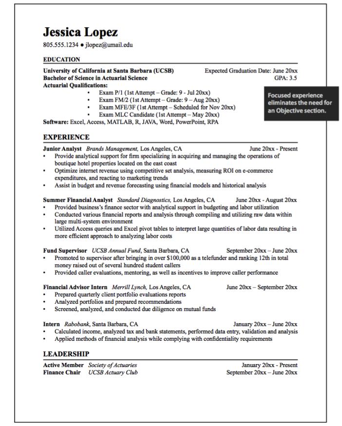 Junior Analyst Example Resumes Examples Resume Cv