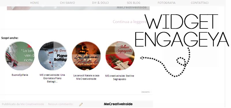 Come inserire nel Blog il Widget Engageya me creative inside
