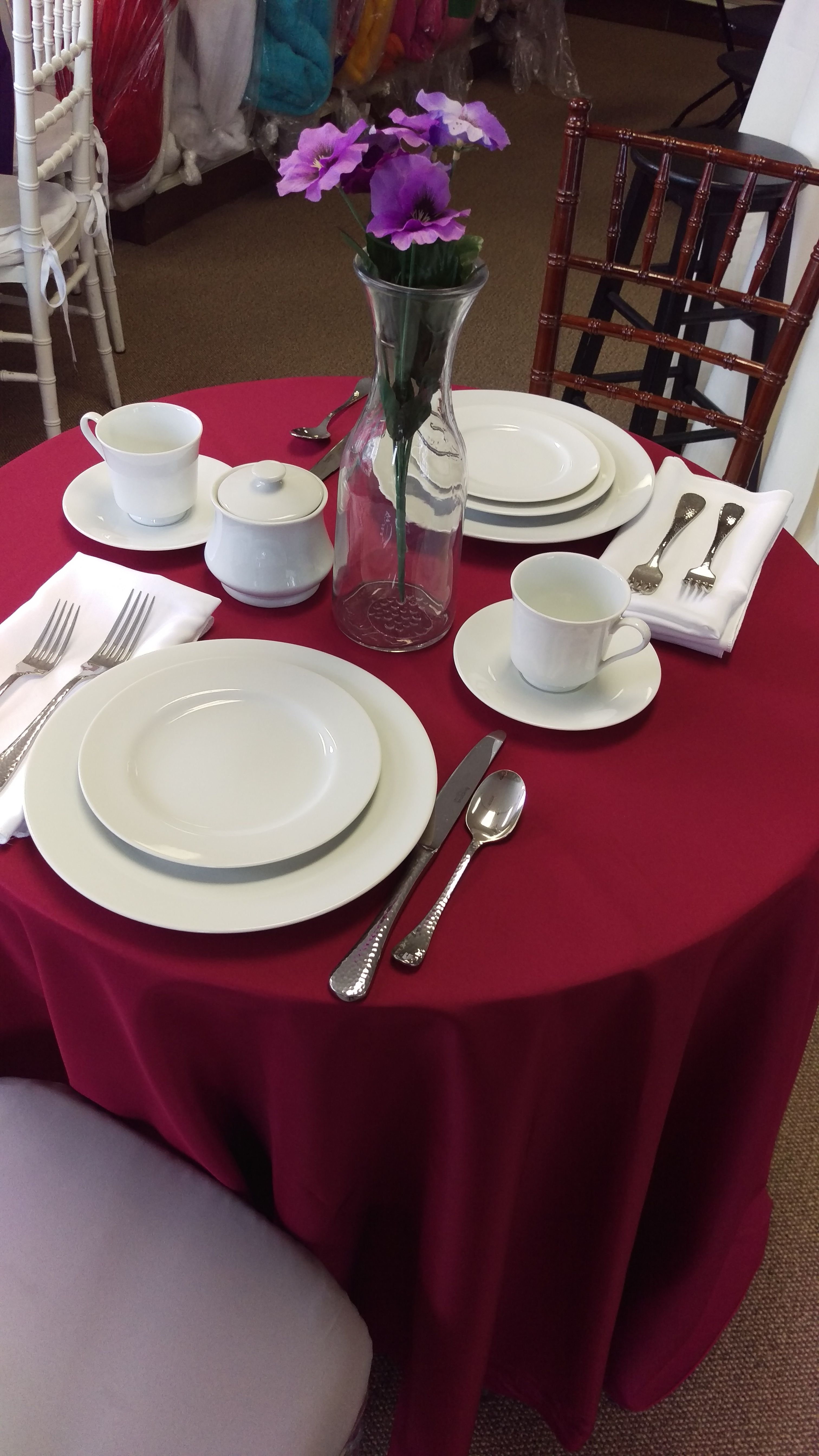 Our 30 Round Table Is Perfect For A Romantic Evening For Two Especially For Valentinesday Taylorrentalnj Table Settings Table Franklin Lakes 30 inch round table
