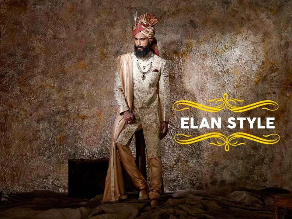 Wear this Indo-western masterpiece and have a knack of stealing the show on your big day !  Shop this look TODAY only at Steel All Male  #Indowestern #Masterpiece #StealShow #BigDay #DDay #DulhaCollection #Elegance #ElanStyle #Wedding #Collection #WeddingAttires #Bespoke #Embroidered #HandMade #IndianWeddings