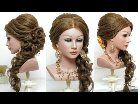 Wedding Prom Hairstyle For Long Hair Tutorial Bridal Updo Step By Step Youtube Curls For Long Hair Easy Hairstyles Long Hair Styles