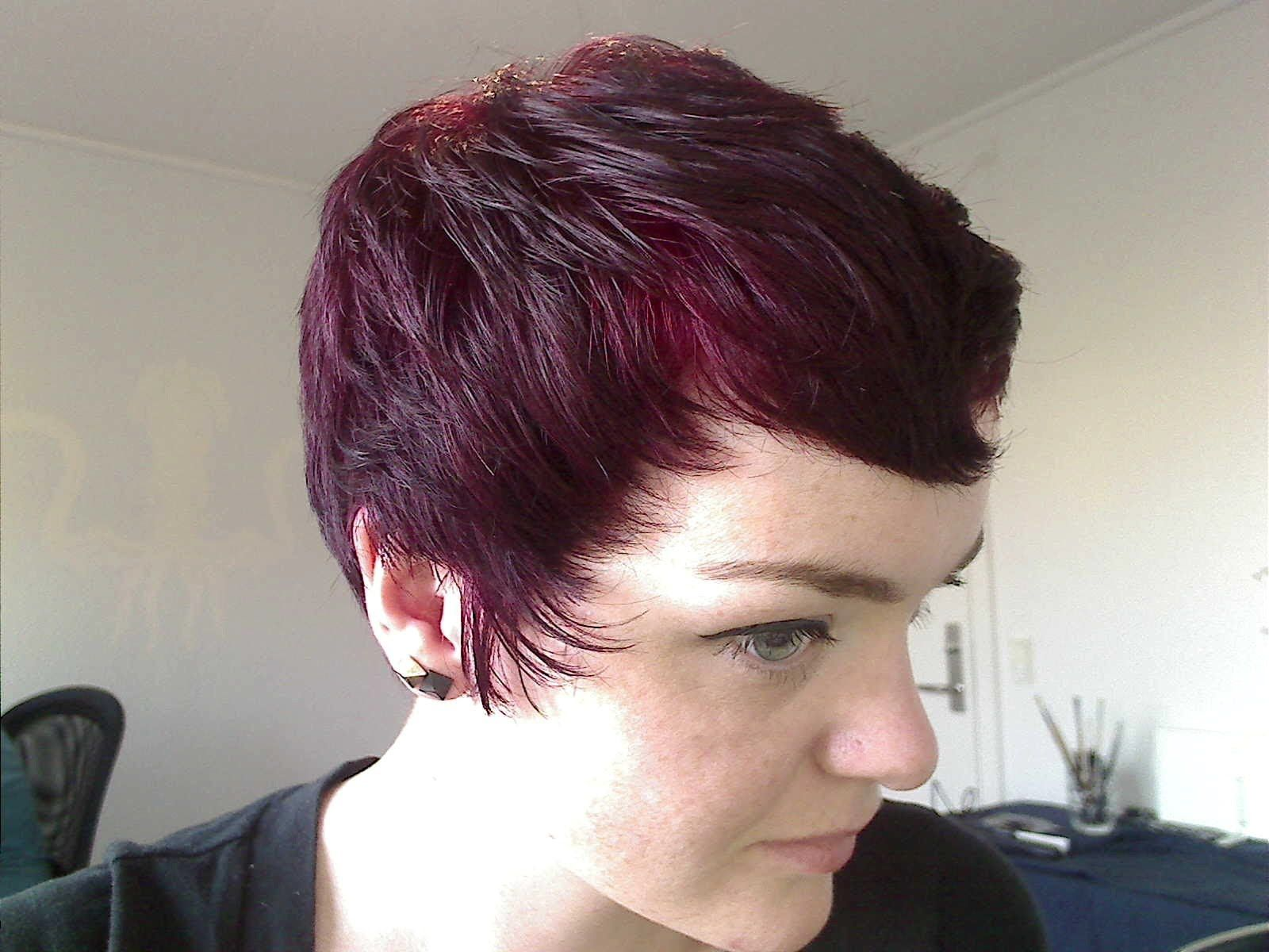 Manic Panic Vampire Red Over Unbleached Hair