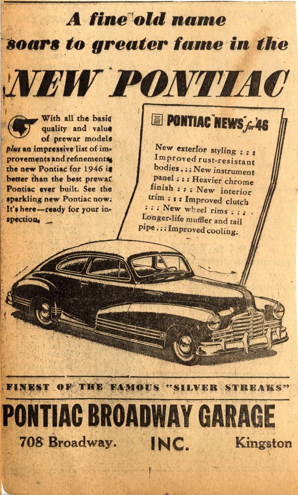 1946-Pontiac.jpg (1000×1658) | Automotive Ads | Pinterest | Cars ...